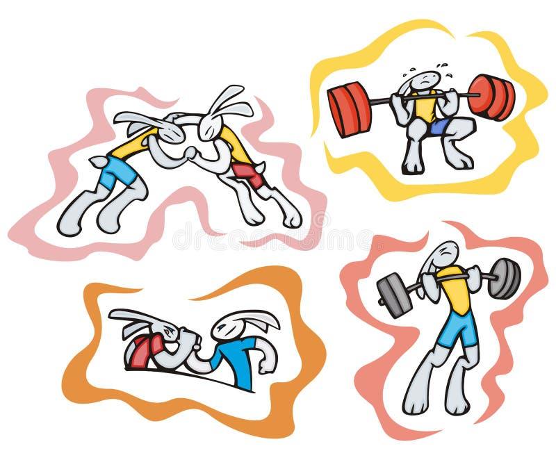 兔宝宝例证体育运动 向量例证