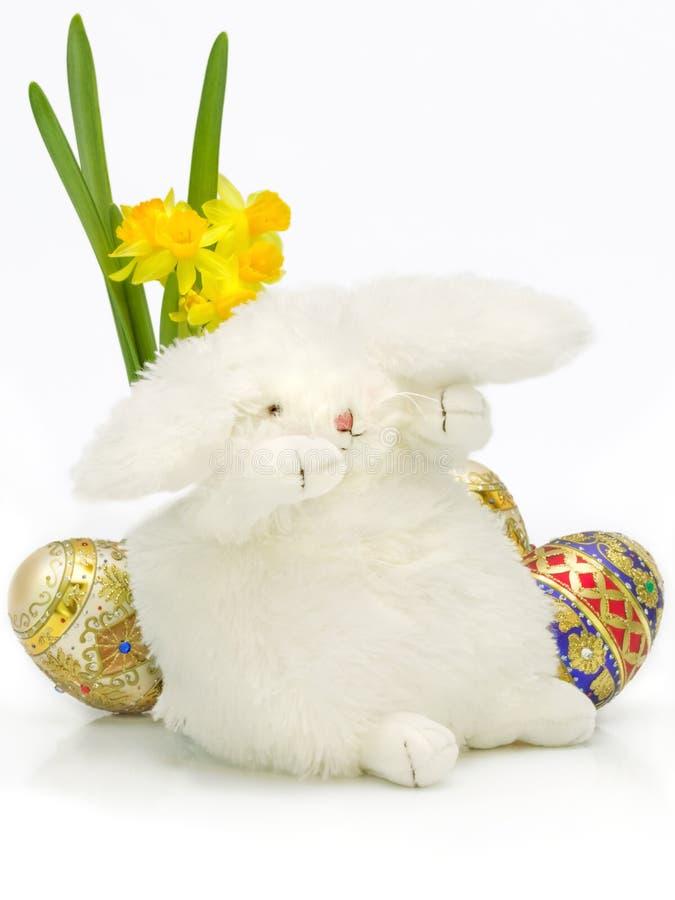 兔宝宝困的复活节 免版税库存图片