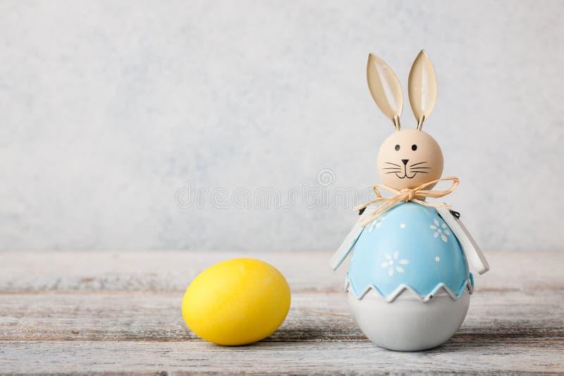 兔宝宝复活节彩蛋 图库摄影