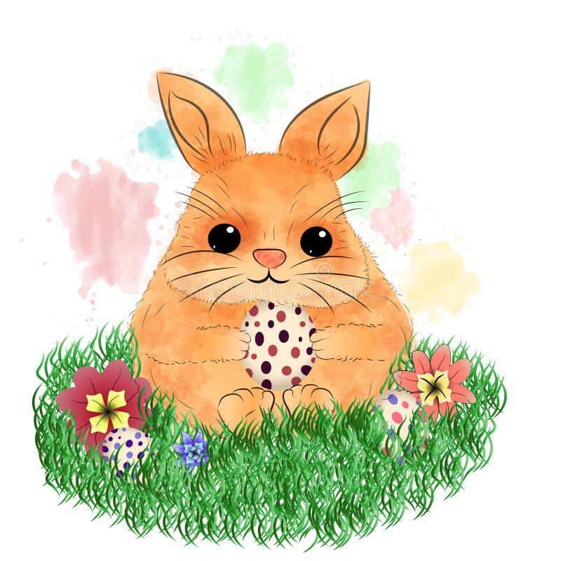 兔宝宝复活节彩蛋 库存图片
