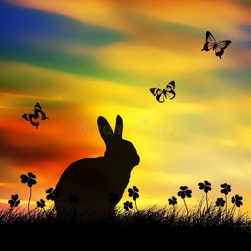 兔宝宝复活节春天 库存例证