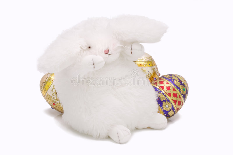 兔宝宝复活节粉红色 免版税库存图片