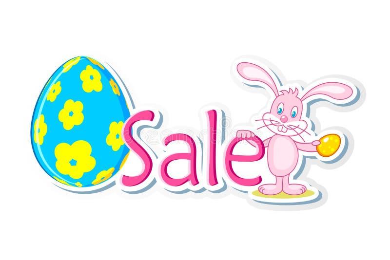 兔宝宝复活节销售额标签 库存例证