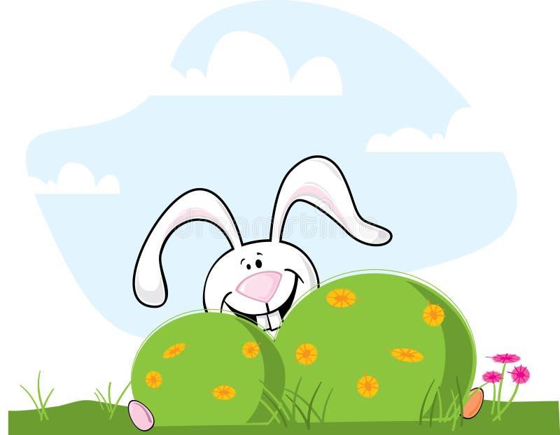 兔宝宝复活节隐藏 库存例证