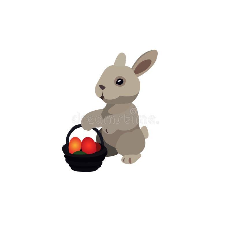 兔宝宝复活节 附庸风雅 传染媒介动画片兔宝宝 向量例证
