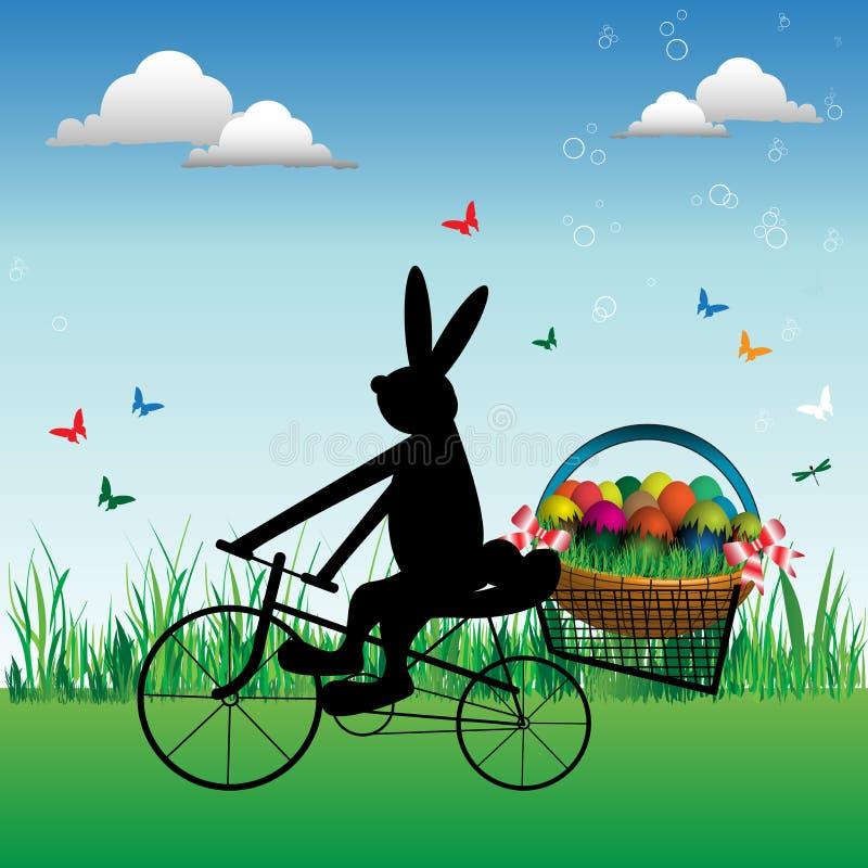 兔宝宝愉快的复活节 向量例证