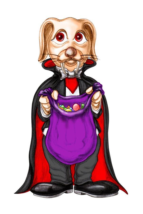兔宝宝服装吸血鬼 免版税库存照片