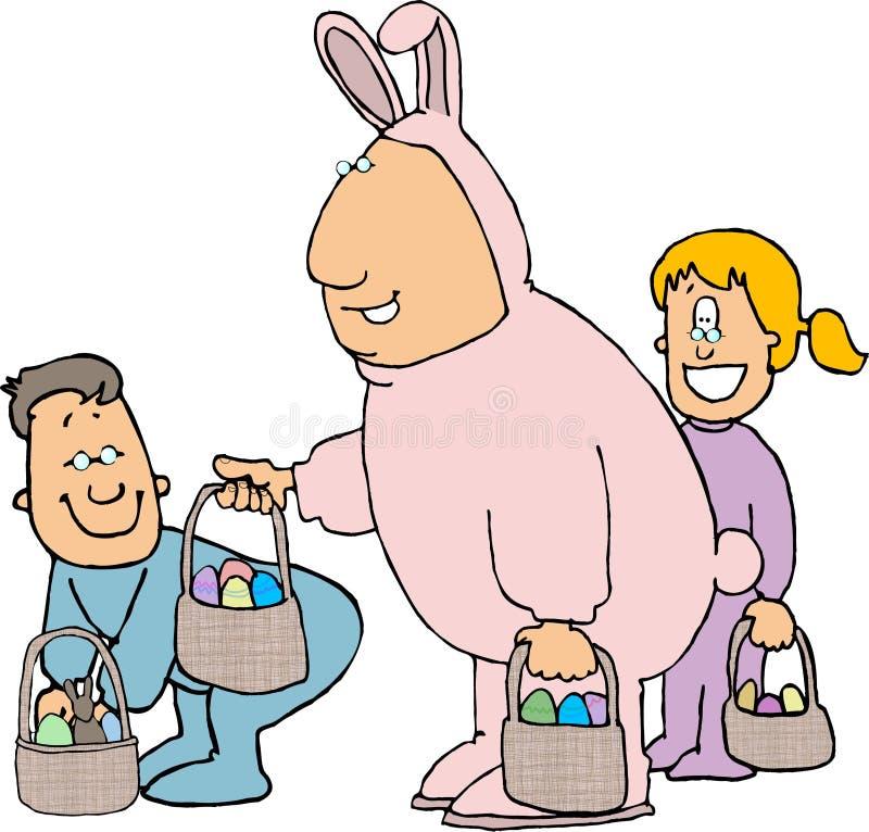 兔宝宝服装复活节人 库存例证