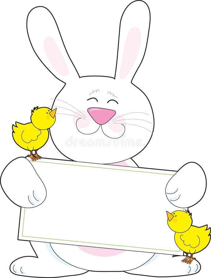 兔宝宝标志 皇族释放例证