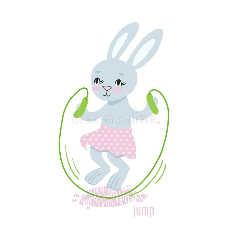 兔宝宝跃迁传染媒介例证 向量例证
