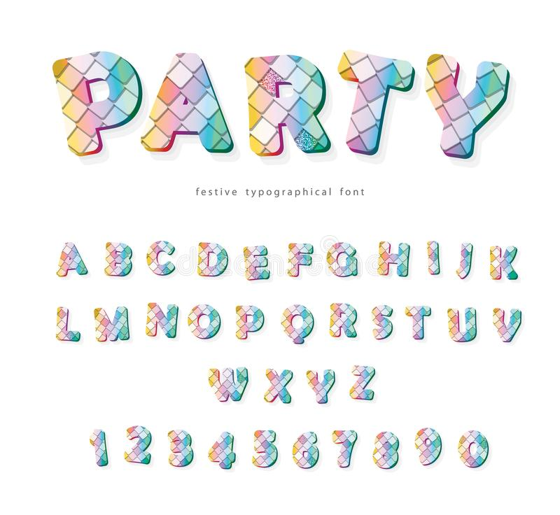 党时髦字体 衣服饰物之小金属片织地不很细信件和数字 对生日,时尚, T恤杉设计 库存例证