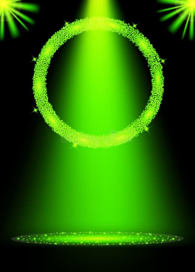 绿党海报 飞行物,贺卡,邀请 皇族释放例证
