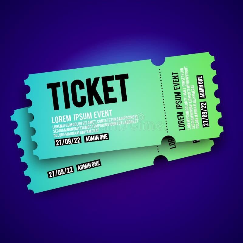 党的,节日,音乐会传染媒介例证五颜六色的VIP词条通行证票根设计模板 库存例证