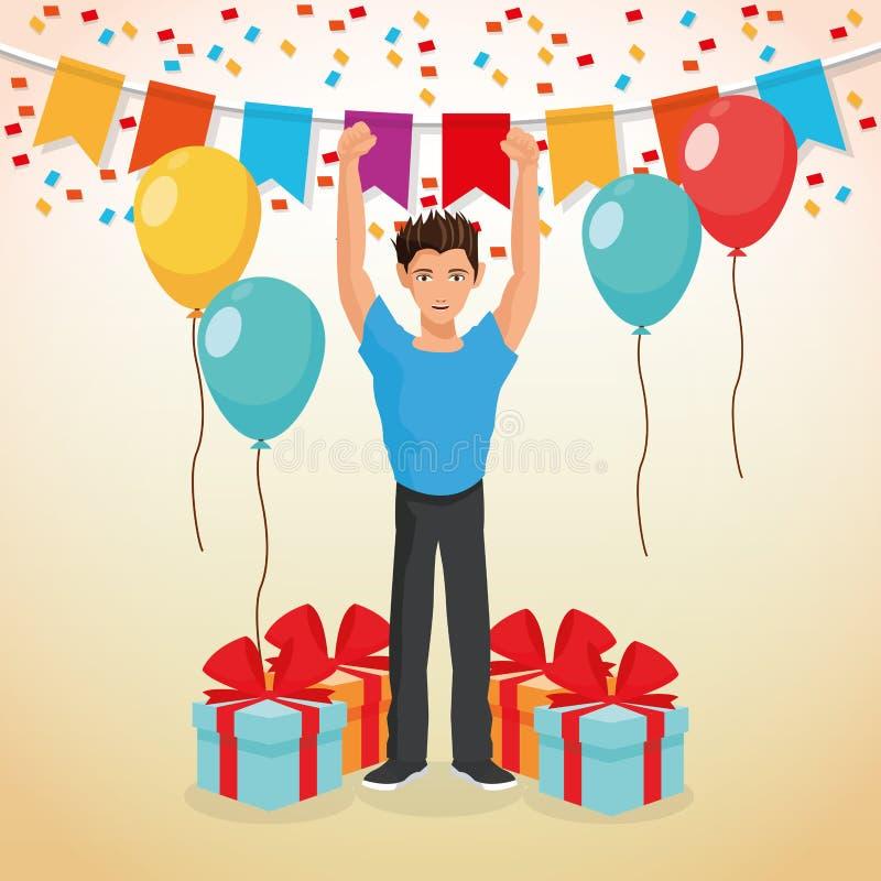 Download 党设计 庆祝象 Colorfull例证,传染媒介 向量例证. 插画 包括有 当事人, 人群, 生日, 舞蹈演员 - 72372128
