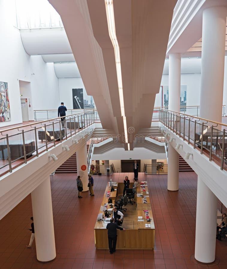 入与出纳员和信息博物馆路德维希,科隆香水,德国的区域 免版税库存照片