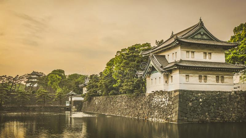 入口东京皇家庭院地区门堡垒  库存照片