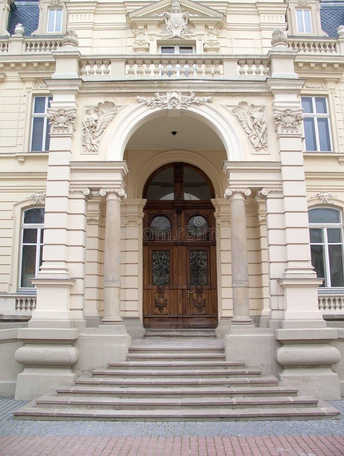 入口前面 图库摄影