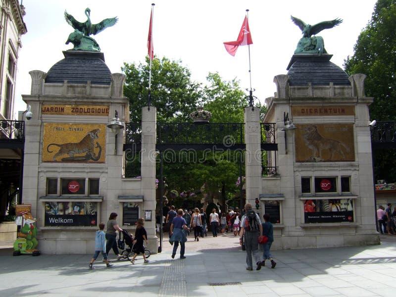 入口动物园安特卫普 免版税库存照片