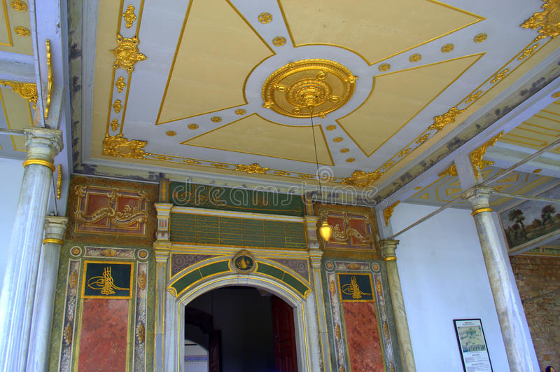 挥霍装饰的入口入topkapi宫殿伊斯坦布尔,土耳其王位屋子2014年5月2017江淮iev7性能v入口图片