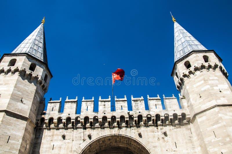 入口历史中世纪宫殿结构topkapi 库存照片