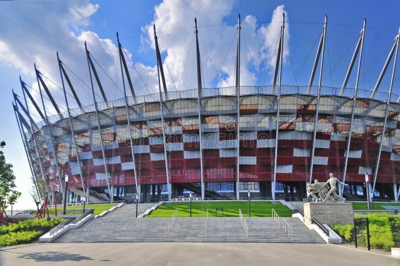 入口国家体育场华沙 免版税库存照片