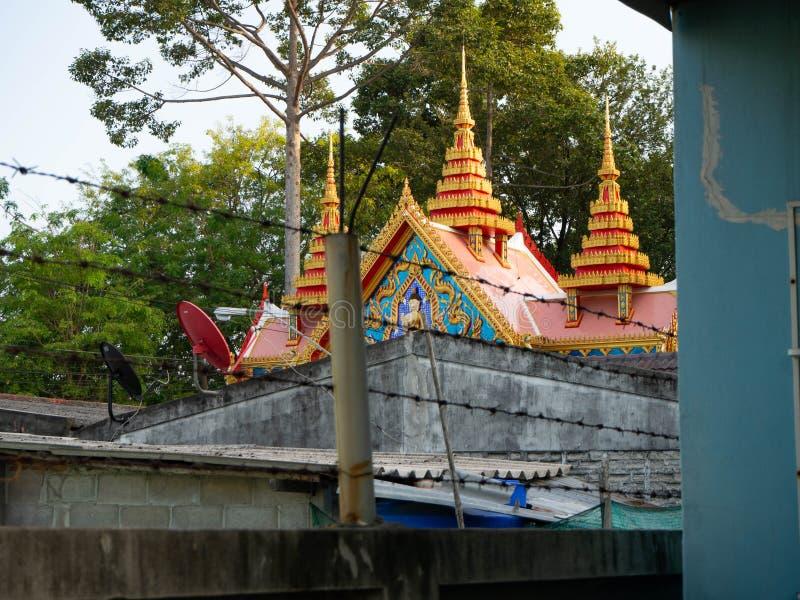 入口寺庙索蓬寺庙rayong,泰国 免版税图库摄影