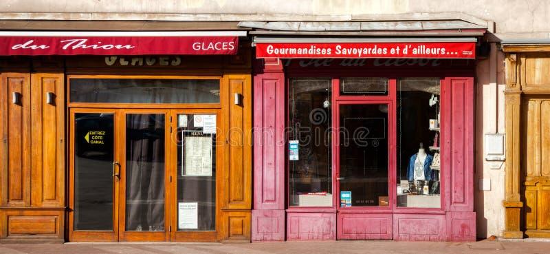 入口法国零售店 库存图片