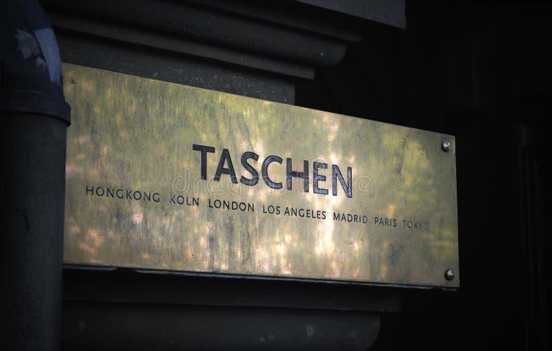 入口符号taschen 免版税库存照片