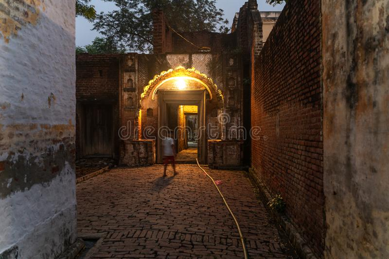入口门在小印度村庄 免版税库存图片