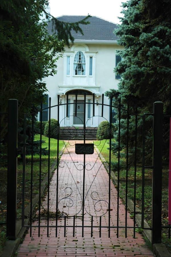 入口门房子铁 库存照片