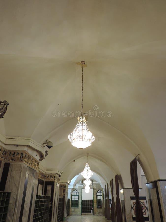 入段落对族长的洞,耶路撒冷 免版税库存照片