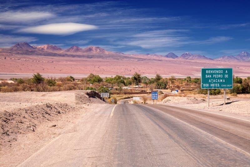 入路到San Pedro de Atacama,智利 免版税库存照片