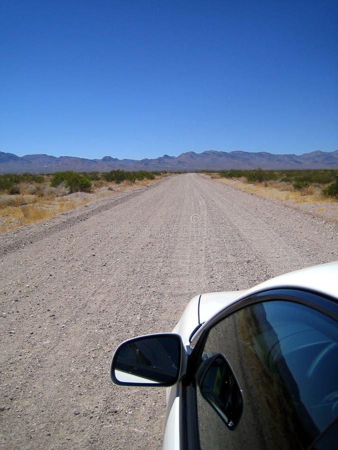 入给泰特斯峡谷,死亡谷NP 库存图片