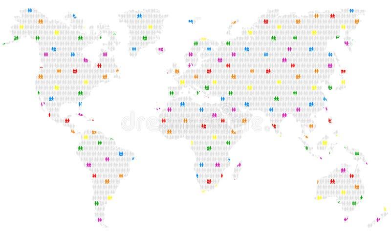 全世界同性恋 库存例证