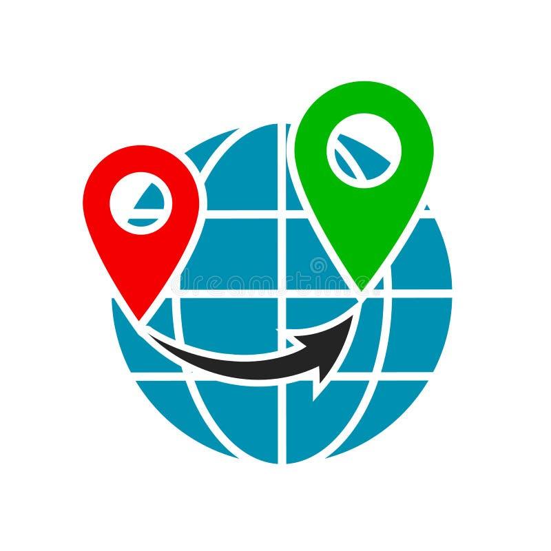 ??????? Geolocation?????GPS?? 皇族释放例证