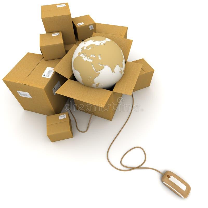 全世界在线采购管理系统 库存例证