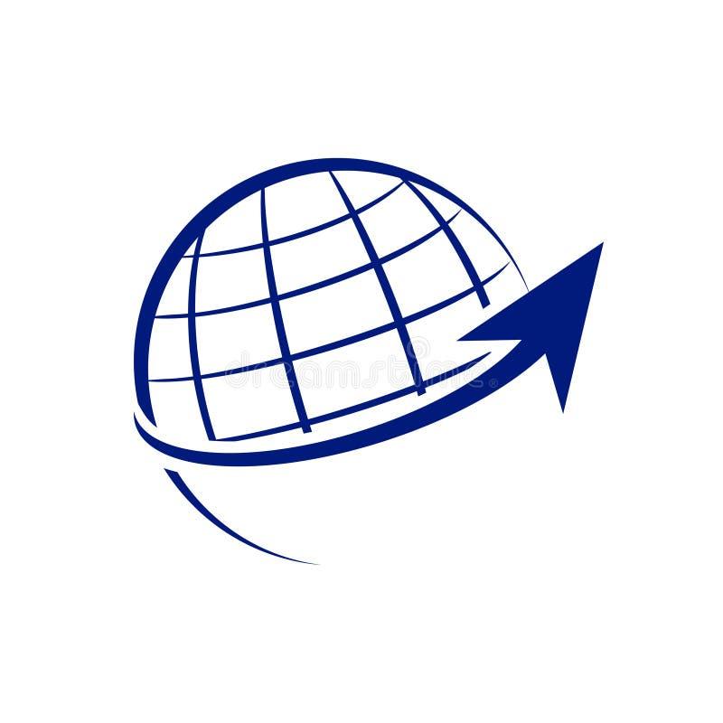 全世界成长箭头标志设计 皇族释放例证