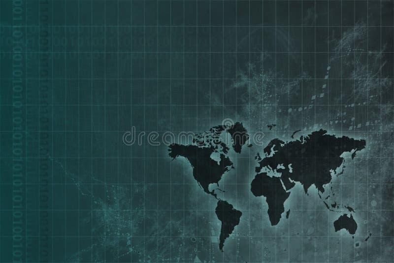 全世界抽象公司发展 库存例证