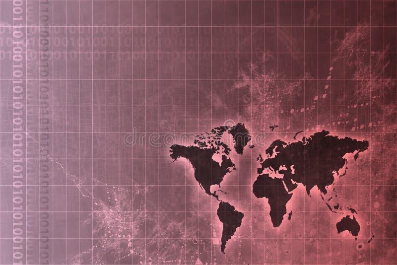 全世界抽象公司发展 皇族释放例证