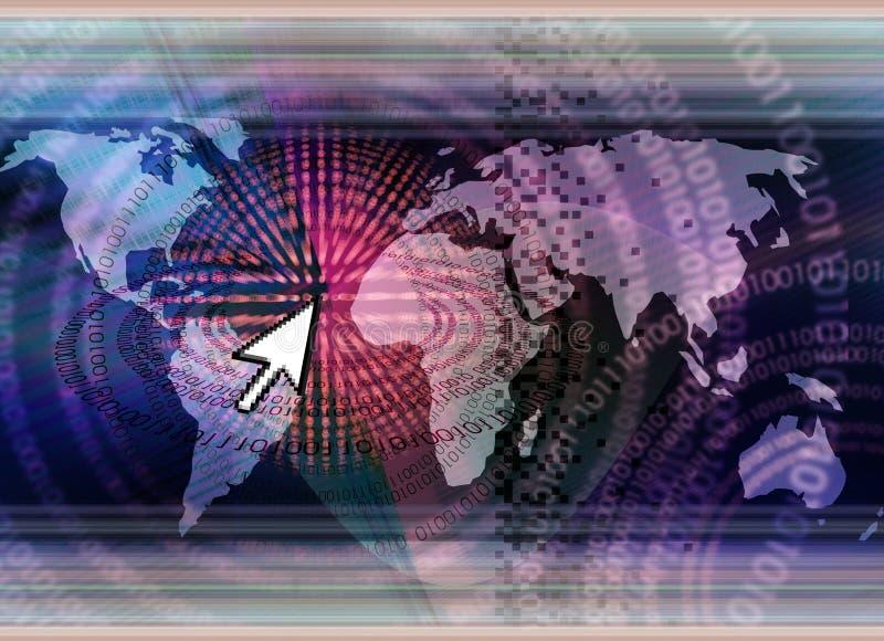 全世界概念的技术 库存例证