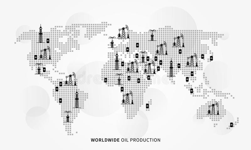 全世界石油生产传染媒介例证 皇族释放例证