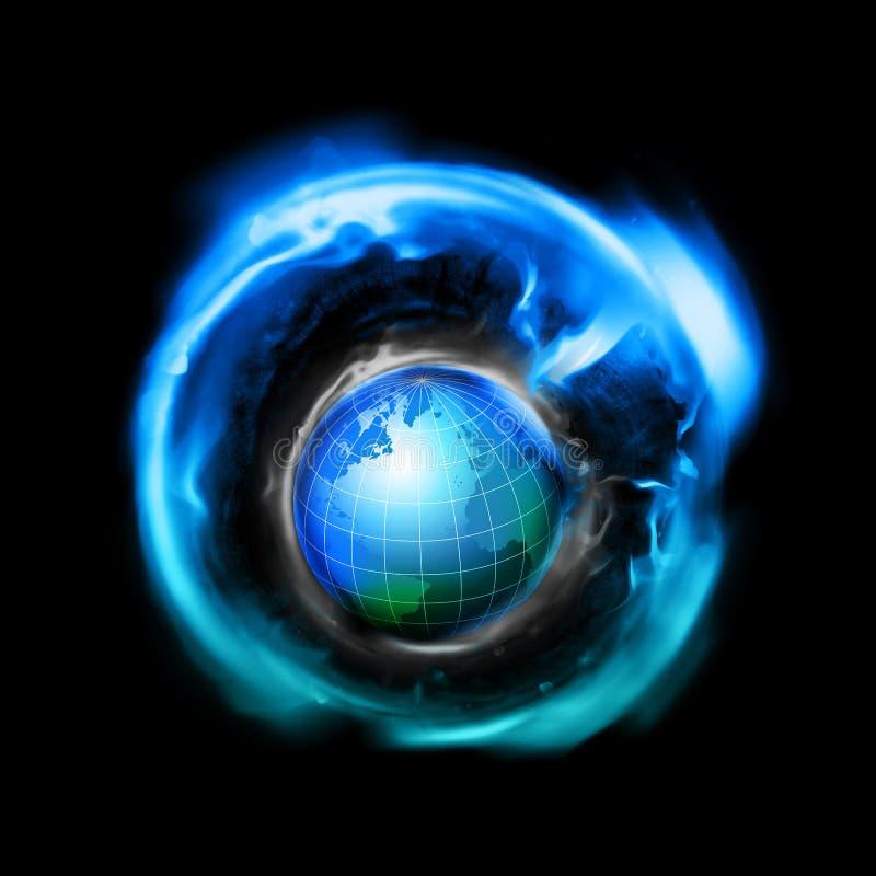 全世界空间 向量例证