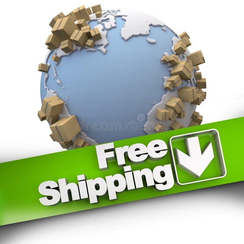 全世界自由运输 皇族释放例证