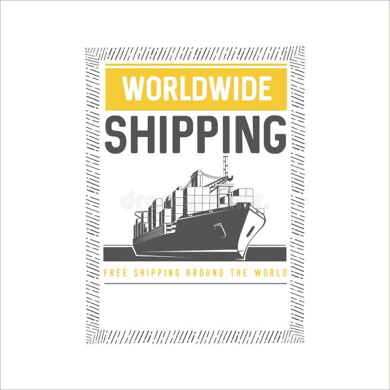 全世界船舶设计模板 向量例证