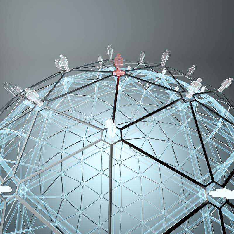 全世界连接数概念 向量例证