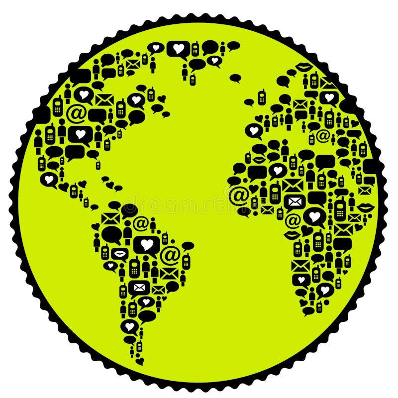 全世界通信 向量例证