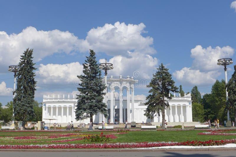 全俄国会展中心,莫斯科,俄罗斯 乌兹别克斯坦亭子  免版税库存图片