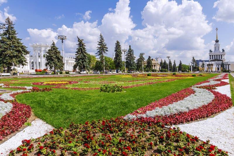 全俄罗斯会展中心VDNKh在莫斯科,俄罗斯 库存照片