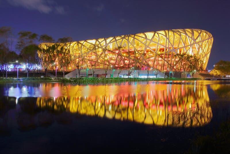 全国体育场在北京-鸟` s巢 库存图片