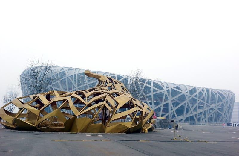 全国体育场在北京 免版税库存图片